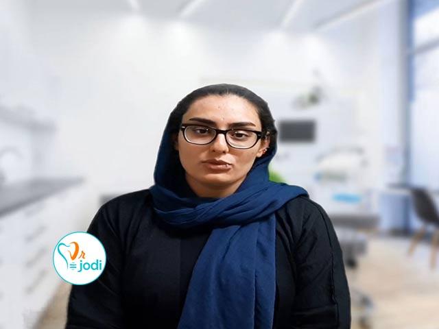 فیلم رضایتمندی سرکار خانم محمدی بیمار ترمیم دندان