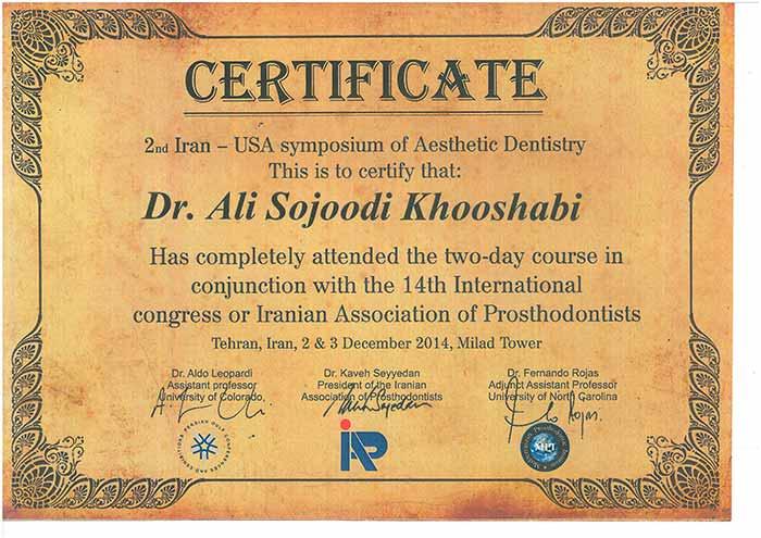 متخصص ایمپلنت دکتر علی سجودی - سمپوزیسیوم ایمپلنت